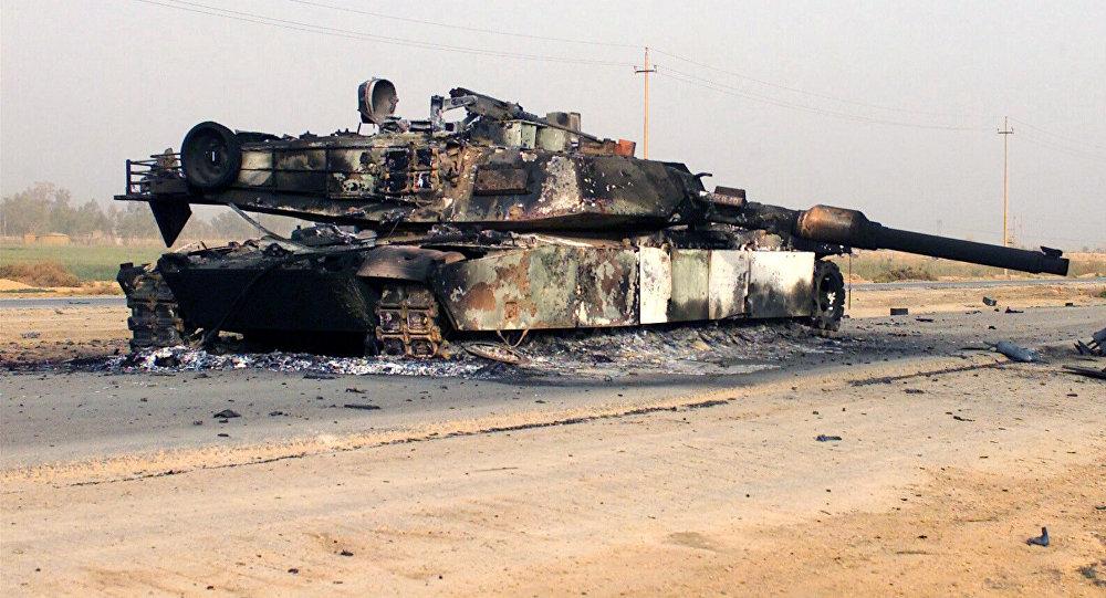Uničen M1A Abrams Vir:Sputnik