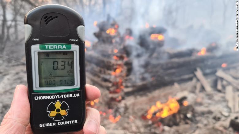Požar v Černobilu - povišane vrednosti