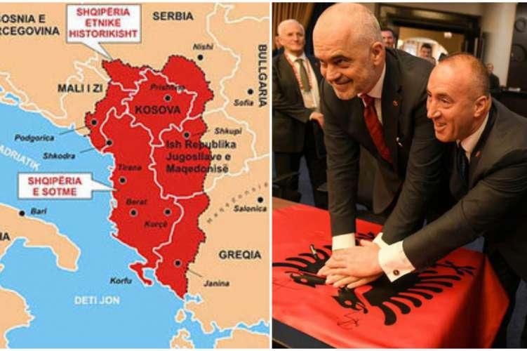 Velika Albanija s podporo kosovskih in albanskih politikov