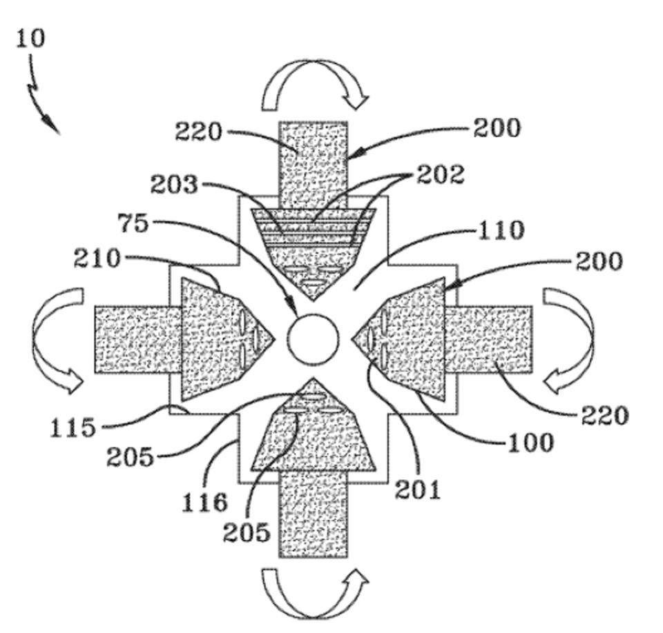 Del patenta kompaktnega fuzijskega reaktorja
