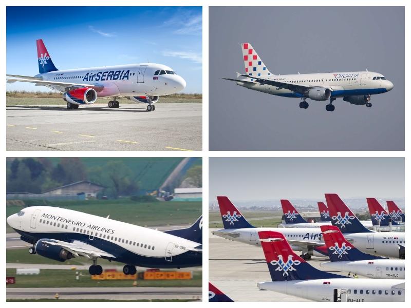 Adria, Air Croatia, Montenegrian Airlines