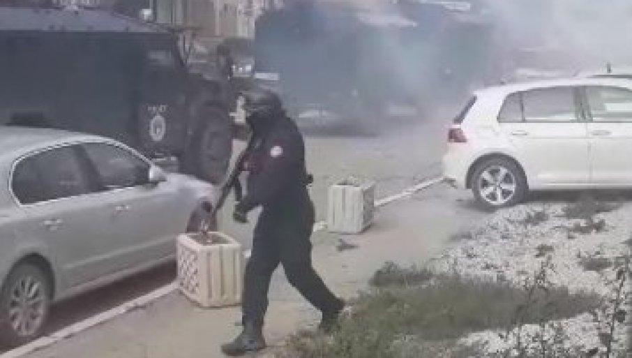 Albanski kosovski policist Vir: Twitter