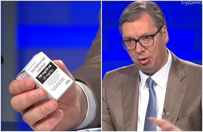 Aleksandar Vučić z zdravilom bamlanivimab - brez birokracije
