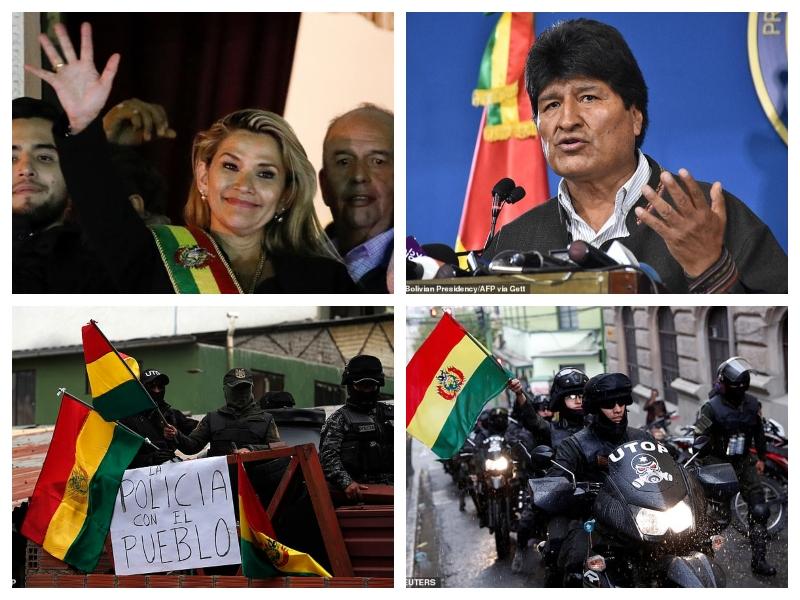 Anez, Morales in njuni podporniki