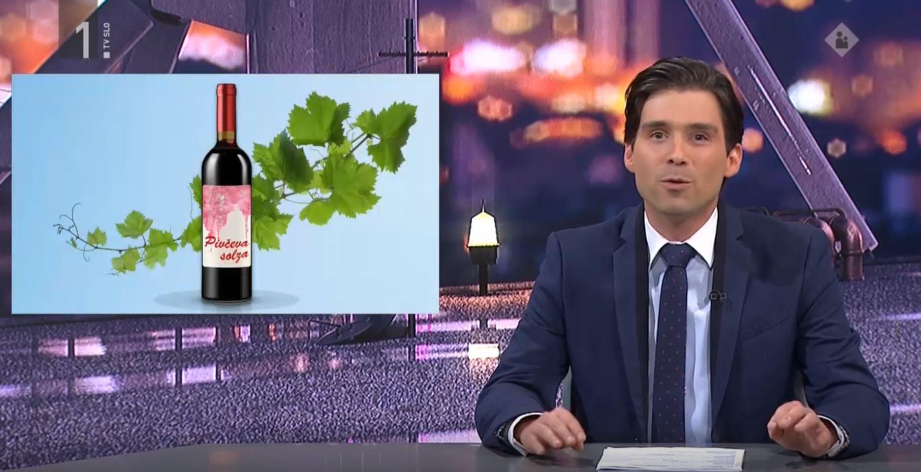 Novo vino: Pivčeva solza. Vir: Posnetek zaslona RTV SLO
