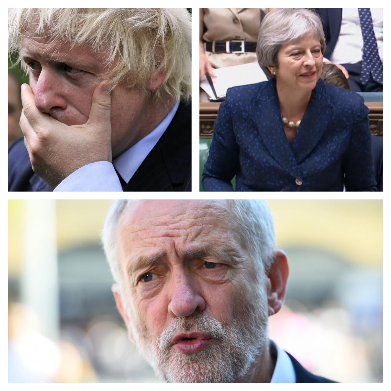 Johnson, May in Corbyn