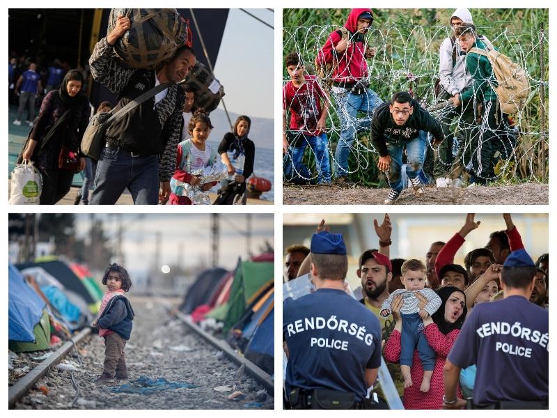Begunci - Grčija in Madžarska