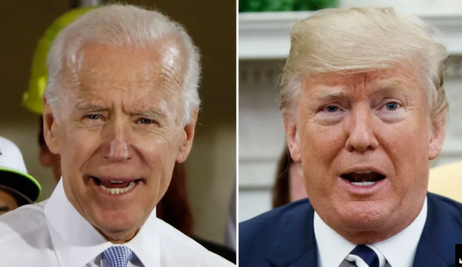 Joe Biden in Donald Trump