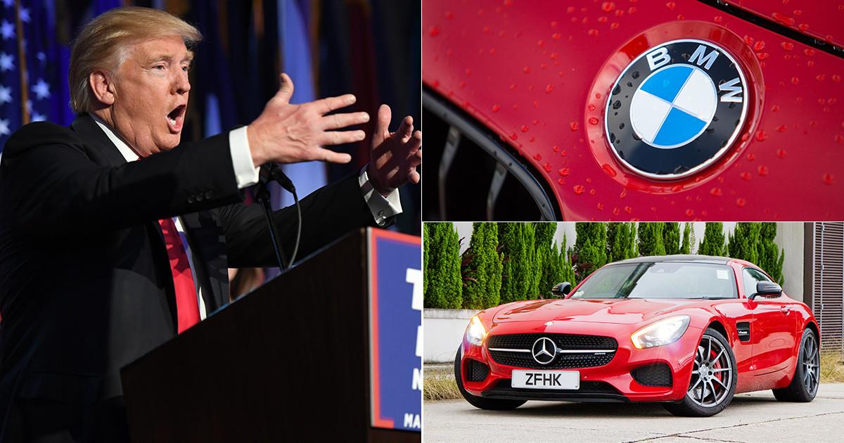 Mercedes in Trump Vir: metro.co.uk
