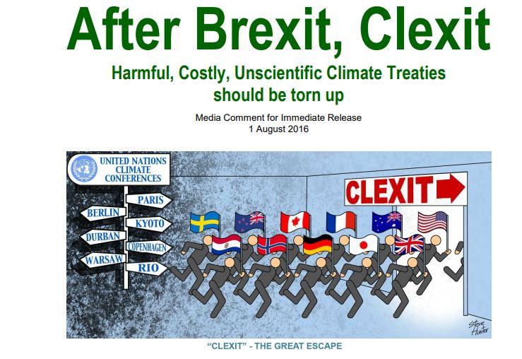 Clexit - prizadevanja za odpoved pogodbam o preprečevanju okoljskih sprememb