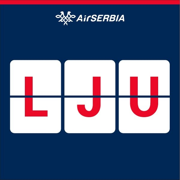 Oznaka LJU - Air Serbia