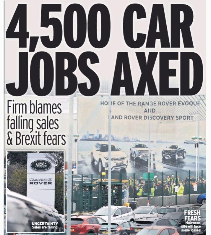 Odpuščanja pri Fordu in Jaguarju - Daily Mirror