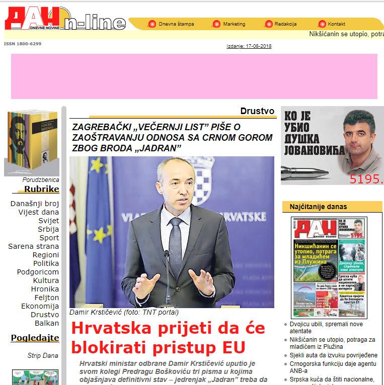 Dan - naslovnica
