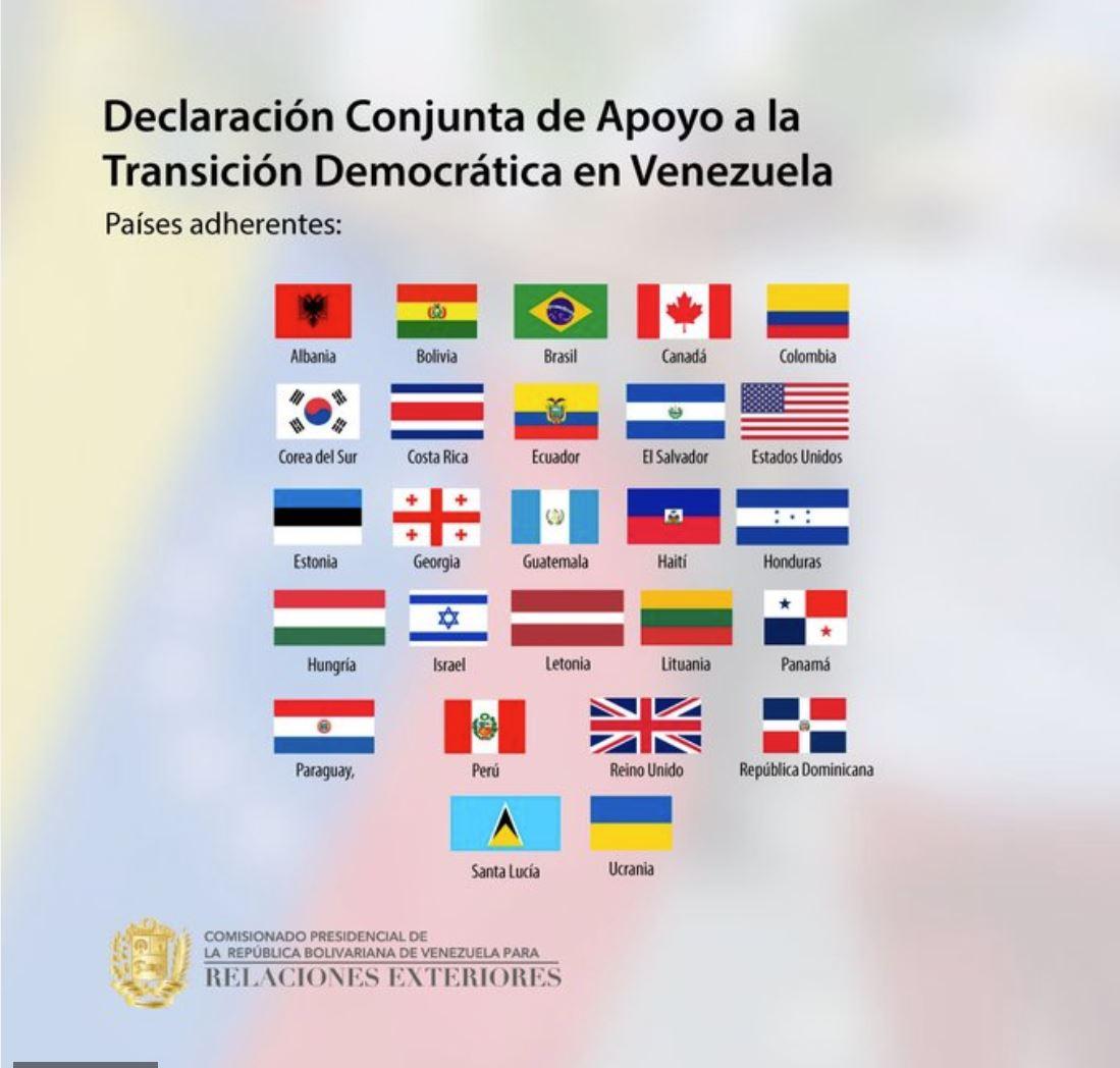 Deklaracija proti Venezueli - brez Slovenije