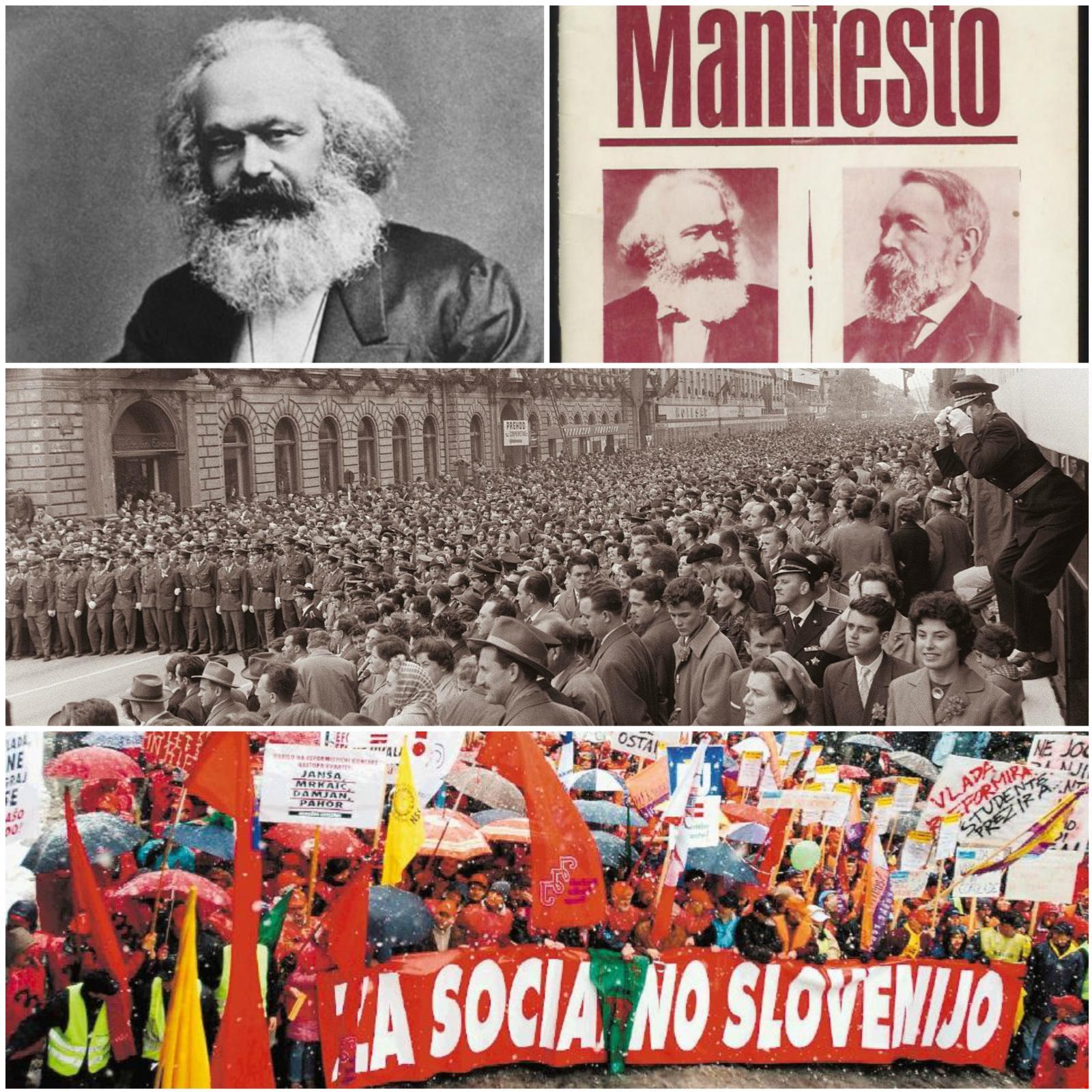 Demonstracije in Marx