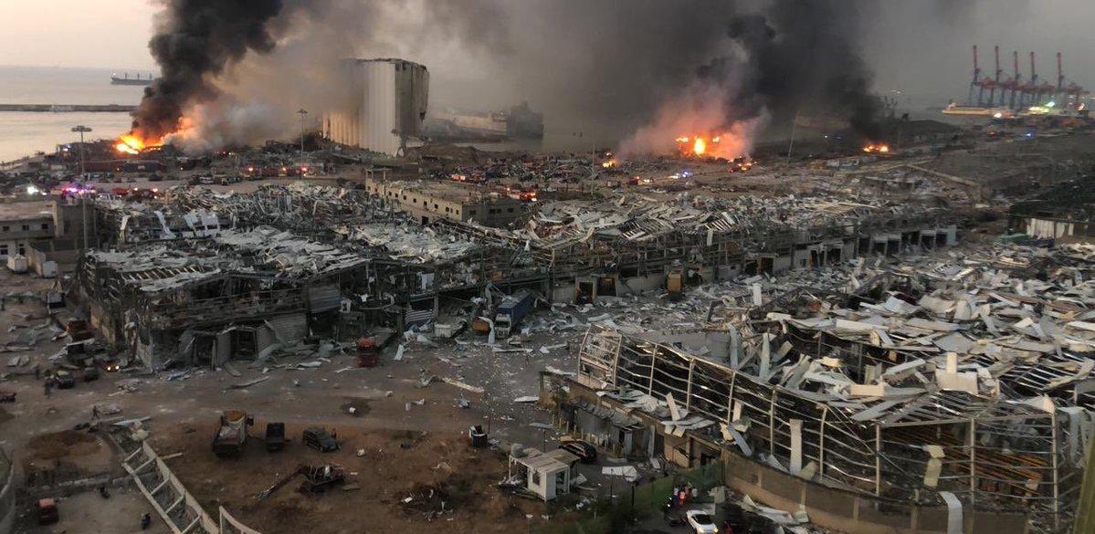 Eksplozija v pristanišču v Bejrutu
