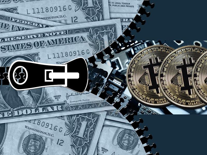 Dolar, Bitcoin