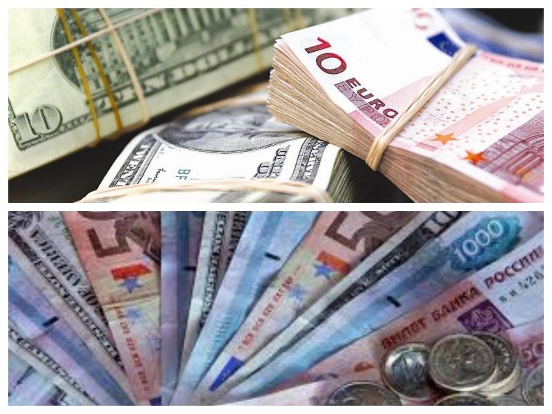 Evri, dolarji, rublji