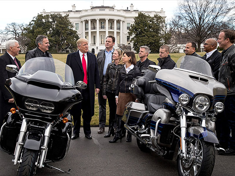 Donald Trump in Harley Davidson
