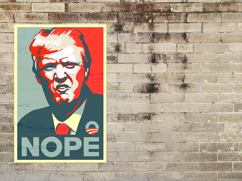 Donald Trump plakat
