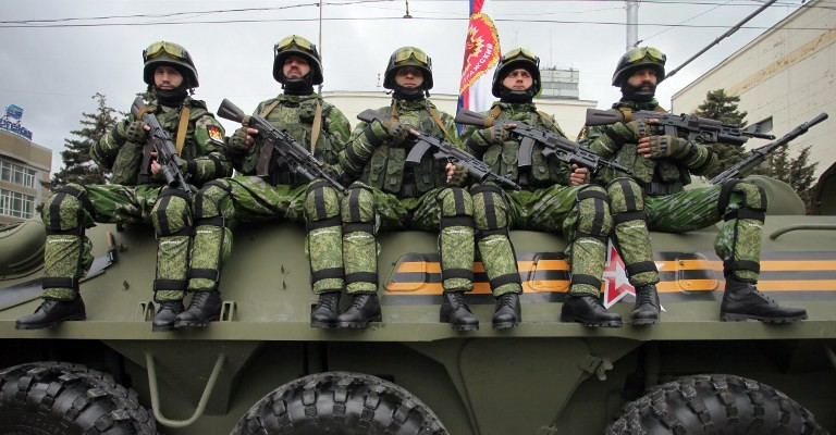 Vojaki Doneške in Luganske republike  Vir: Twitter