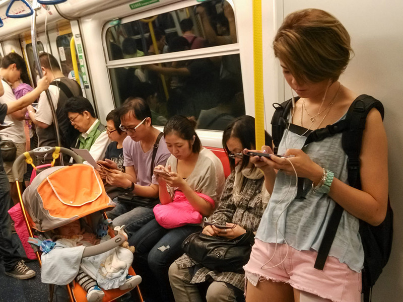 Družbena omrežja, mobiteli
