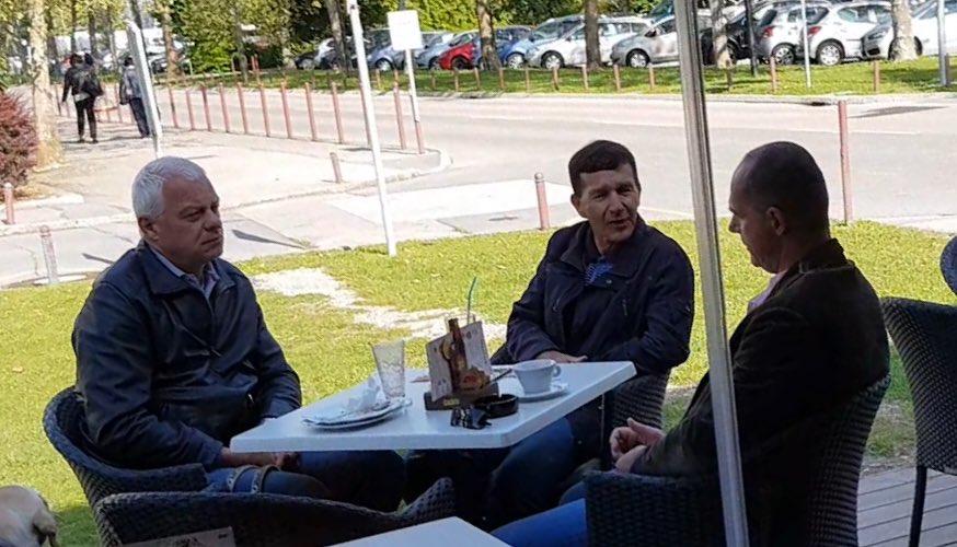 Drago Kos, Bogdan Biščak in Jože Damijan