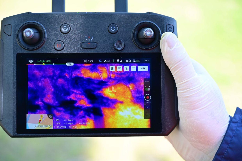 Dron in termalna mapa