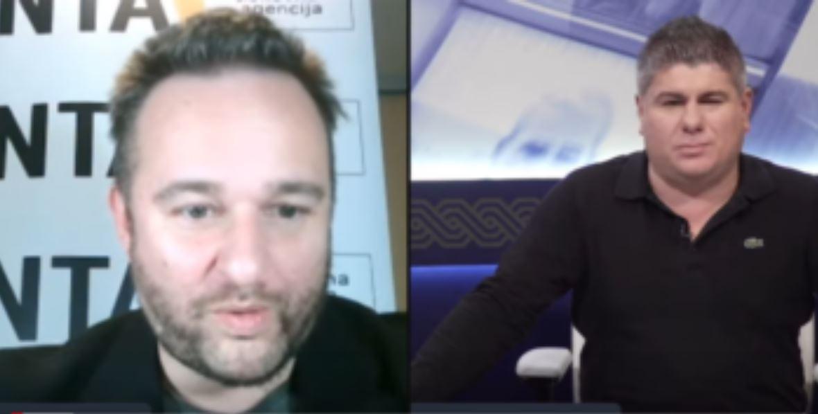 Aleš Ernecl in njegov pogosti sogovornik Vladimir Bujanec
