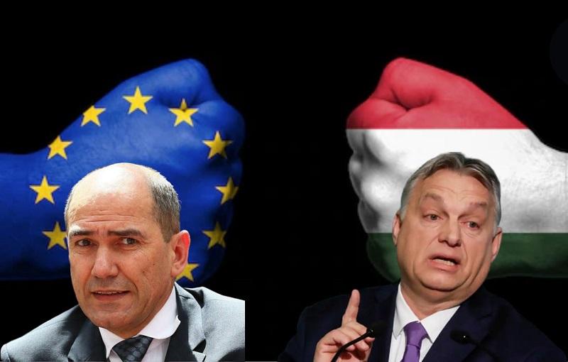 V EU Janša posluša Madžarsko