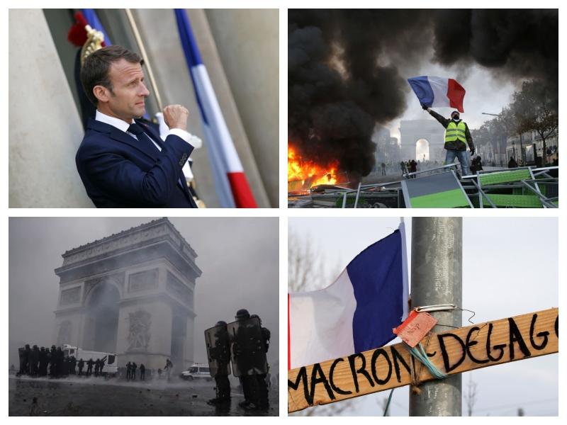 Rumeni jopiči - protesti v Franciji, november, december 2018