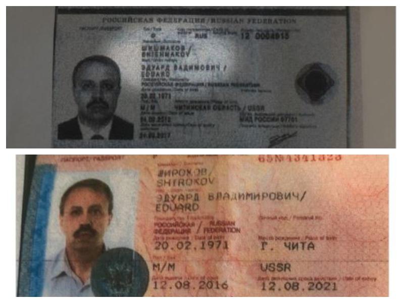 Domnevni ruski agent v Črni gori - pravi in ponarejen potni list
