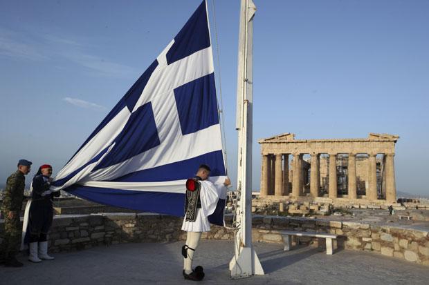 Grška zastava Vir:Tanjug