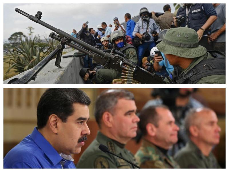 Propadli udar - Maduro in poveljniki