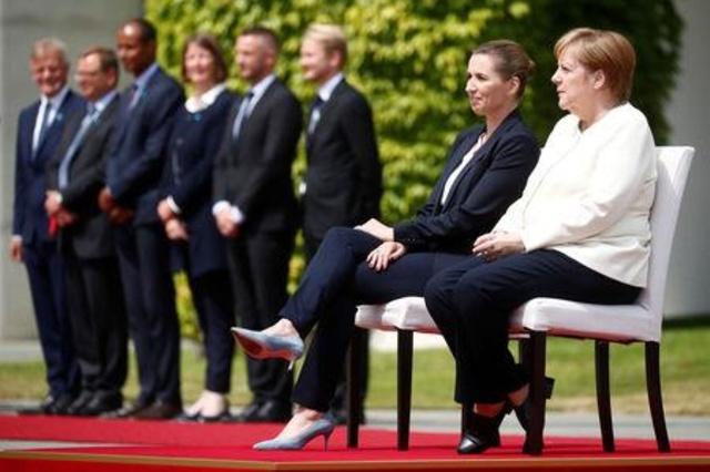Angela merkel sedi, obisk danske predsednice vlade Vir:Swissinfo.ch