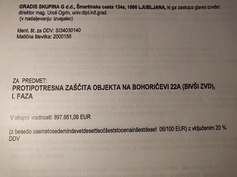 Cena obnove ZVD - pogodbena