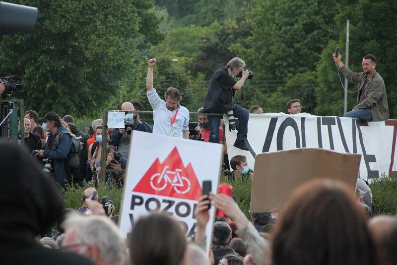 Protest 28.05.2021  Vir: Insajder.com