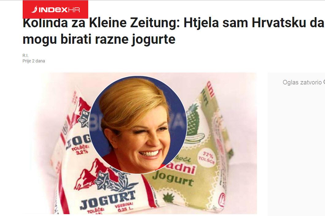 Index - naslovnica o jogurtih