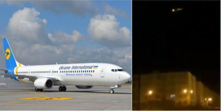 Ukrajinsko letalo in trenutek nesreče
