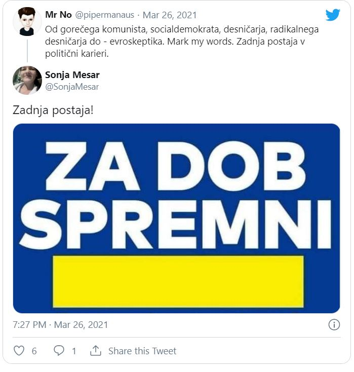 Sporočilo, ki ga dobro razumeta Janša in Dimnik...