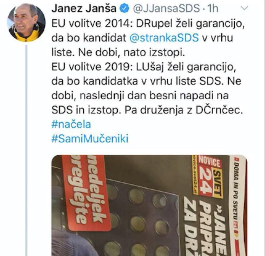 Janša - tvit, Ušaj