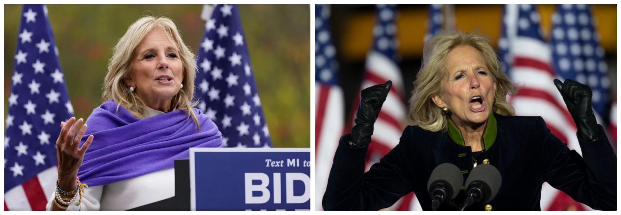 Jill Biden na predvolilnih shodih. Vir: Twitter