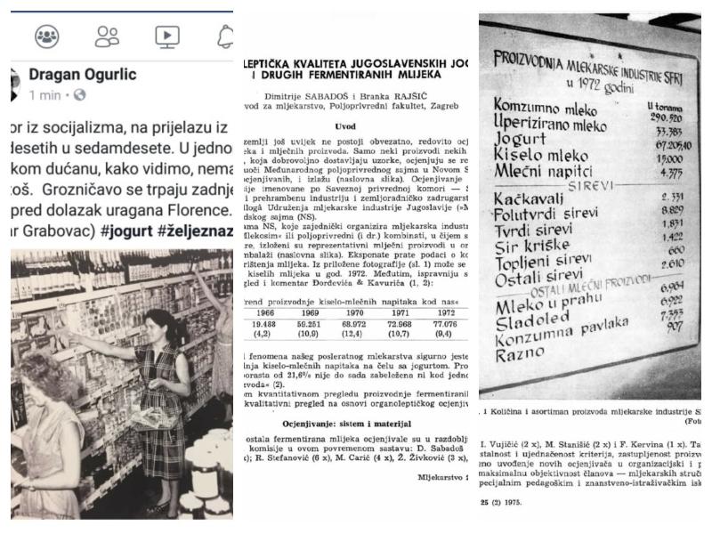 Jogurti - študije iz SFRJ