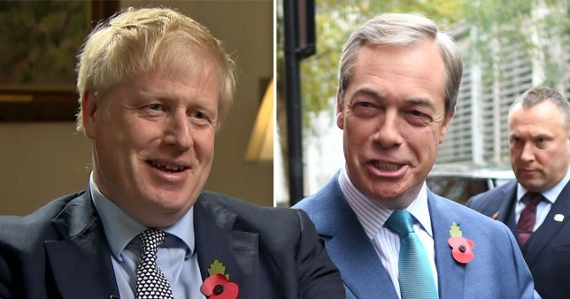 Johnson in Farage