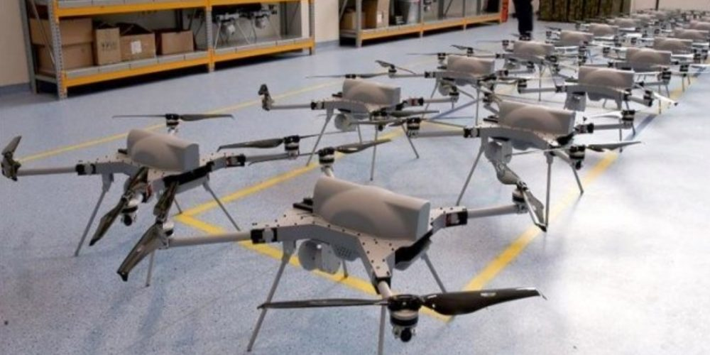 Roj dronov Kargu-2  Vir: Twitter