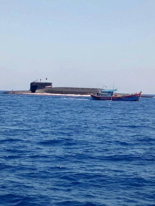Kitajska podmornica 094 in vietnamski ribiči