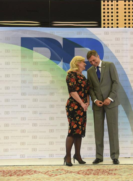 Kolinda in Pahor - šepetanje