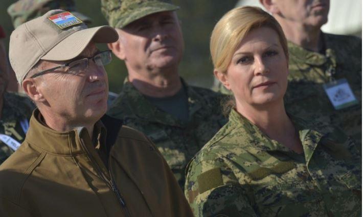Hrvaška predsednica - vojakinja Vir:Pixell