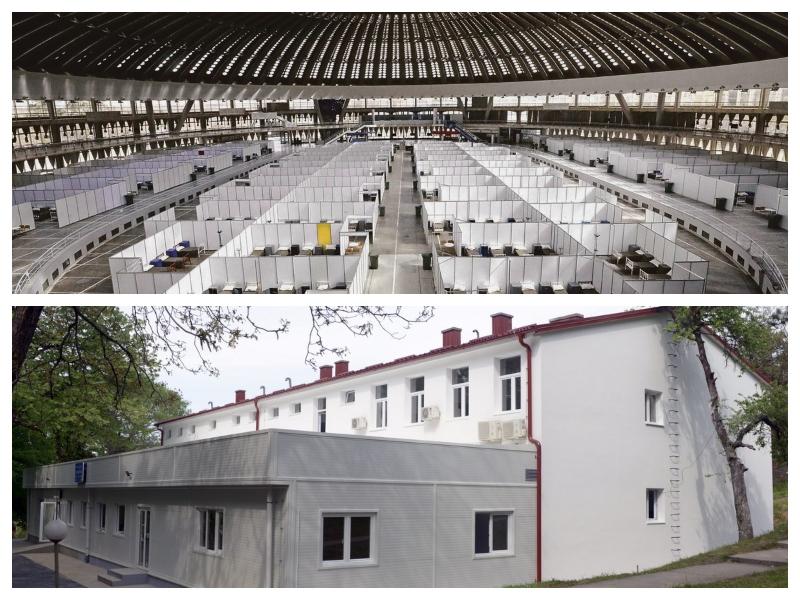 Kovid bolnišnice v Karaburmi in Sejmu - Beograd