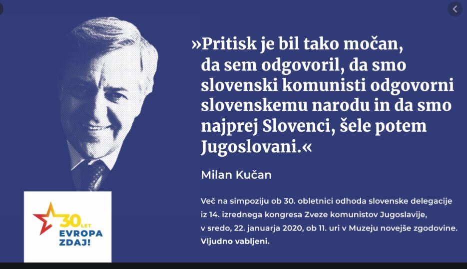 Milan Kučan na 14. kongresu ZKJ